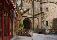 Royal gate Mont-Saint-Michel. Royalty Free Stock Image
