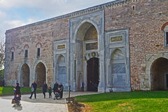 The Royal Gate of Topkapi Palace Stock Photo