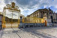 Royal Gates of Versailles Palace Royalty Free Stock Photos