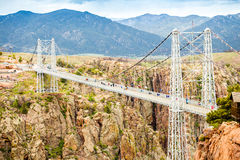 Royal George Suspension Bridge, Colorado, USA. Royal George Suspension Bridge over Arkansas River, Colorado, USA stock images