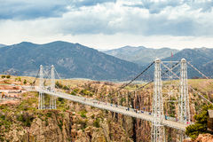 Royal George Suspension Bridge, Colorado, USA Royalty Free Stock Photography