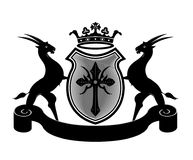 Royal Goat Crown Coat arms Object. Also use of Educational Institute, Restaurant or organization Royalty Free Stock Photography