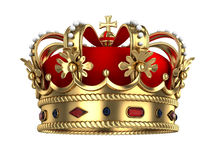 Royal Gold Crown Stock Images