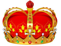 Royal gold crown isolated Royalty Free Stock Images