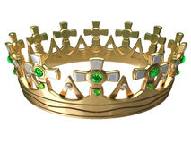 Royal gold crown isolated Stock Photo