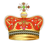 Of royal gold crown with jewels Stock Image