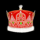 Of Royal gold crown with ornament and pearls Royalty Free Stock Photo