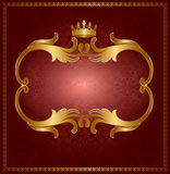 Royal gold frame Stock Image