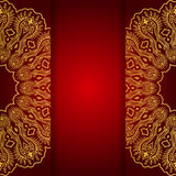 Royal gold ornamental greeting card Royalty Free Stock Image
