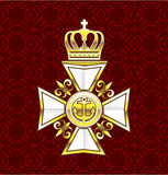 Royal Gold White Navy Cross Royalty Free Stock Images