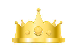 Royal golden crown vetor Stock Photos