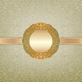 Royal golden frame Royalty Free Stock Photography