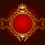 Royal golden frame Stock Image