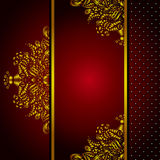 Royal Golden Frame Menu card Vector Royalty Free Stock Photos