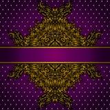 Royal Golden Frame Vector Illustration Stock Photos