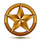 Royal golden geometric symbol, stylized golden star, best for us Royalty Free Stock Images