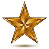 Royal golden geometric symbol, stylized golden star, best for us Stock Images