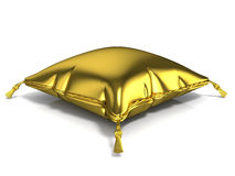 Royal golden pillow. 3D render Royalty Free Stock Photo