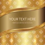 Royal Golden Thai Silk. This piece is golden color To reflect the special Royalty Free Stock Images