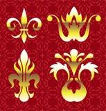 Royal golden Vector Floral Elements Stock Photo