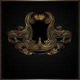 Royal golden vintage background Stock Photo