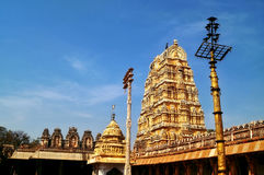 The royal gopuram of Virupaksha temple Royalty Free Stock Photos