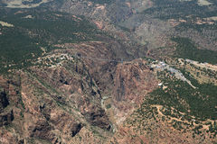 Royal Gorge aerial photo Royalty Free Stock Images