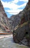 Royal Gorge Route. Bridge over the grand canyon of Arkansas, Royal Gorge Route, Rocky Mountains, Colorado, USA Stock Image