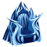Royal Gothic throne of ice, image in cartoon style Stock Photography