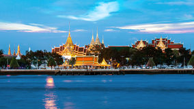 Royal Grand Palace along the river Stock Photos