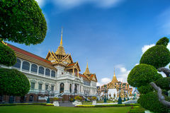Royal grand palace in Bangkok. Royalty Free Stock Photography