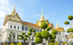 Royal grand palace in Bangkok. It called Chakri Maha Prasat.They are composed of nine major and minor halls Royalty Free Stock Photos