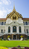 Royal grand palace in Bangkok. It called Chakri Maha Prasat.They are composed of nine major and minor halls Royalty Free Stock Photo