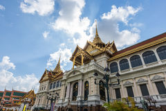 Royal grand palace in Bangkok, Thailand in sunny day Stock Images