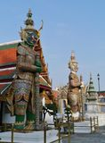 The royal or grand palace in Bangkok in Thailand Stock Photos