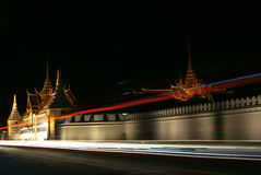 Royal grand palace at night Stock Photography
