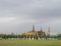 Royal grand palace under cloudy sky Royalty Free Stock Images