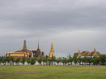 Royal grand palace under cloudy sky Royalty Free Stock Photos