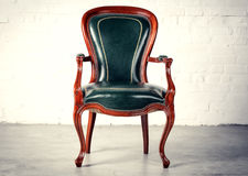 Royal green chair Stock Image