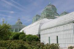The royal greenhouses in Laeken stock photo