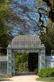 The Royal Greenhouses at Laeken, Brussels, Belgium, composed of a complex of a number of greenhouses. The Royal Greenhouses at Laeken, Brussels, Belgium, made stock photos