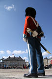 Royal Guard. In front of the Royal Palace in Copenhagen, Denmark Royalty Free Stock Photography