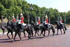 Royal guard on buckingham palace Royalty Free Stock Photography