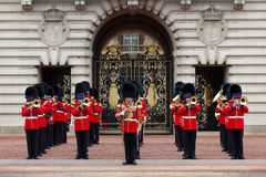A Royal Guard at Buckingham Palace Stock Photo