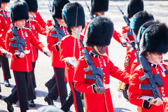 Royal guard at Buckingham palace Stock Image