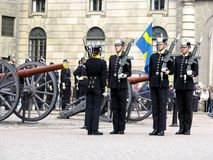 Royal Guard change, Stockholm Stock Photos