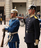 Royal Guard change, Stockholm Royalty Free Stock Photo