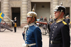 Royal Guard change, Stockholm Royalty Free Stock Photos