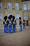 Royal guard in copenhagen Stock Image