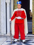 Royal guard in front of the Mausoleum of Mohammed V in Rabat Stock Images